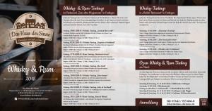 Das Haus der Sinne - Whisky & Rum 2018