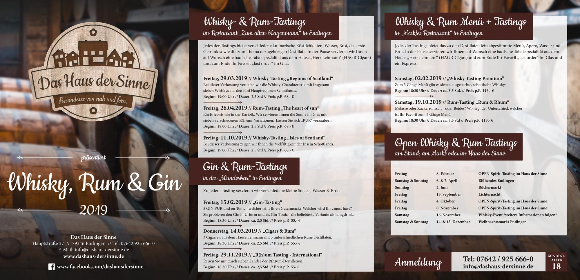 Whisky und Rum - Haus der Sinne Endingen
